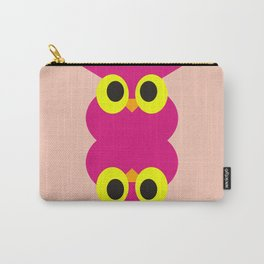 CVAn0051 Pink Owl Twins Carry-All Pouch