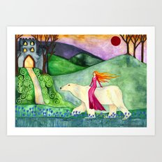 East of the Sun, West of the Moon Art Print