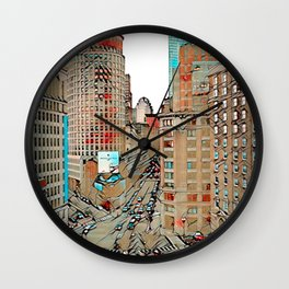 Downtown Boston, Boston, USA Wall Clock