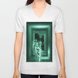 Angel of Bristol (Blue/Green - Cyan) Unisex V-Neck