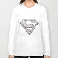 superman Long Sleeve T-shirts featuring Superman by Frances Roughton