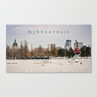 minneapolis Canvas Prints featuring Minneapolis by Kimberley Britt