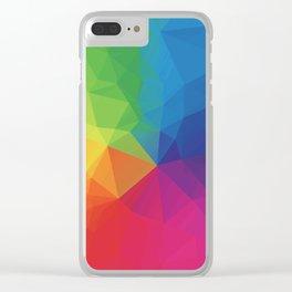 Rainbow Geometric Shapes Clear iPhone Case