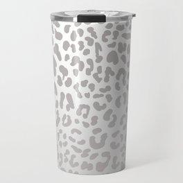 Silver Leopard Travel Mug
