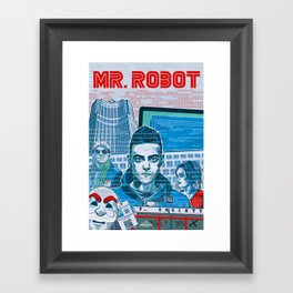 Mr. Robot Framed Art Print