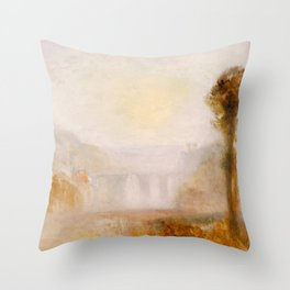 "J.M.W. Turner ""The Ponte Delle Torri, Spoleto"" Throw Pillow"