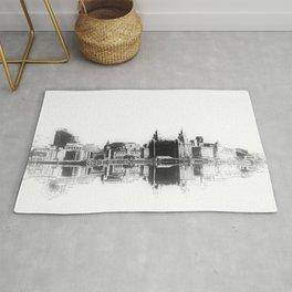 Liverpool Waterfront Skyline (Digital Art) Rug