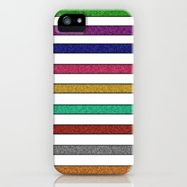 Stripes and glitter iPhone Case