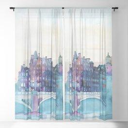 Winter in Edinburgh Sheer Curtain