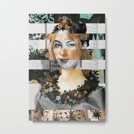 Sandro Botticelli's Flora & Ava Gardner Metal Print