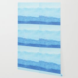 Ombre Waves in Blue Wallpaper