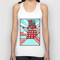 doctor who Tank Tops featuring Doctor Who by Alli Vanes
