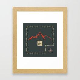 Explore Mountain Framed Art Print