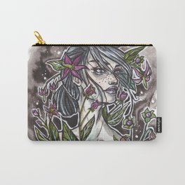 Nightshade Inktober Ink and Watercolor Illustration Carry-All Pouch