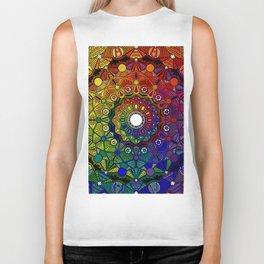 Mandala 46 - Psychedelic Mandala Rainbow series Biker Tank