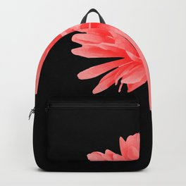 One Pink Gerbera with black background Backpack