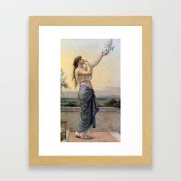 Alexandre Cabanel - Love's Messenger 1883,,, Framed Art Print