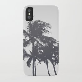 Tropical Palms Gray iPhone Case