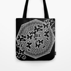 Dark butterfly kaleidoscope Tote Bag