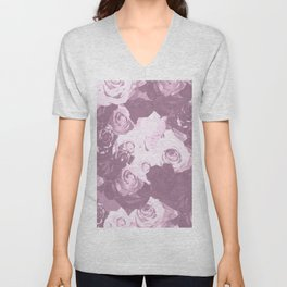 Rose bouquet - beautiful roses from rose garden - vintage style Unisex V-Neck