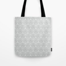 Icosahedron Soft Grey Tote Bag