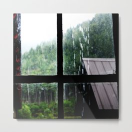 Its Raining Out Side Metal Print