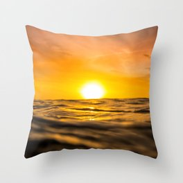 Unreal Sunset Throw Pillow