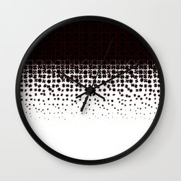 Be at Peace Not in Pieces Wall Clock