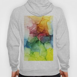 Stormy Spectrum | Abstract Rainbow Painting Hoody