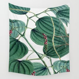 Green leaves I Wall Tapestry