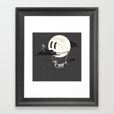 You Should See The Moon In Flight Framed Art Print