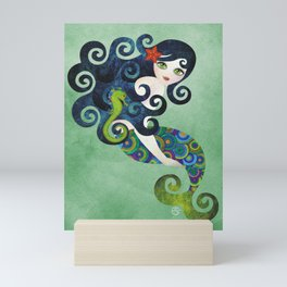 Aquamarine Mermaid Mini Art Print