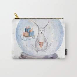 Christmas bunny #3 Carry-All Pouch