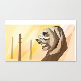 persepolis lion Canvas Print