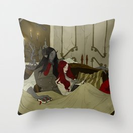 Beauty and the Beast - Evening Throw Pillow