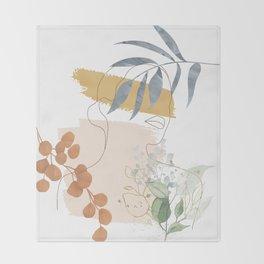 Line in Nature II Throw Blanket