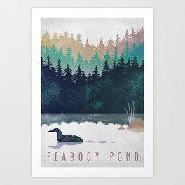 Loon on Peabody Pond Art Print