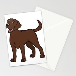 Happy Chocolate Lab Stationery Cards