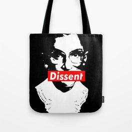 Ruth Bader Ginsburg Dissent Feminist Political RBG Tote Bag