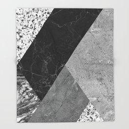 Marble and Granite Abstract Throw Blanket