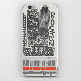 Boston City Illustration iPhone Skin