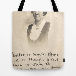 The Quote and the Photograph Tote Bag