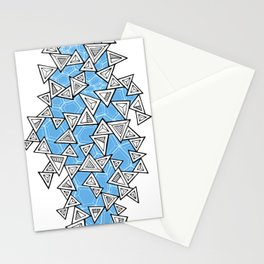 Triangles and Tessellation in Blue Stationery Cards