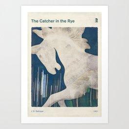 J. D. Salinger's The Catcher in the Rye - Literary book cover design Art Print