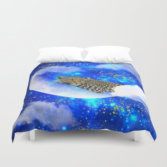Relax in The moon Duvet Cover