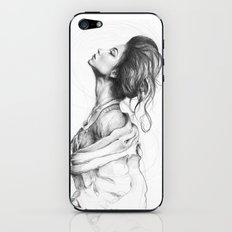 Pretty Lady Illustration Woman Portrait Beauty iPhone & iPod Skin