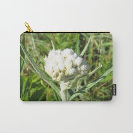 Watercolor Flower, Pearly Everlasting Flower 01, Boulder, Colorado Carry-All Pouch
