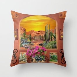 Sonoran Desert Landscape Throw Pillow