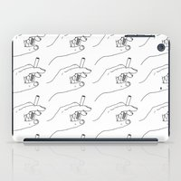 cigarette iPad Cases featuring Cigarette Smoker by Katie Rosealea