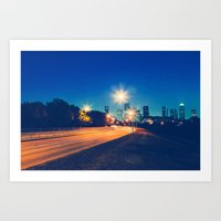 houston Art Prints featuring Houston by GF Fine Art Photography